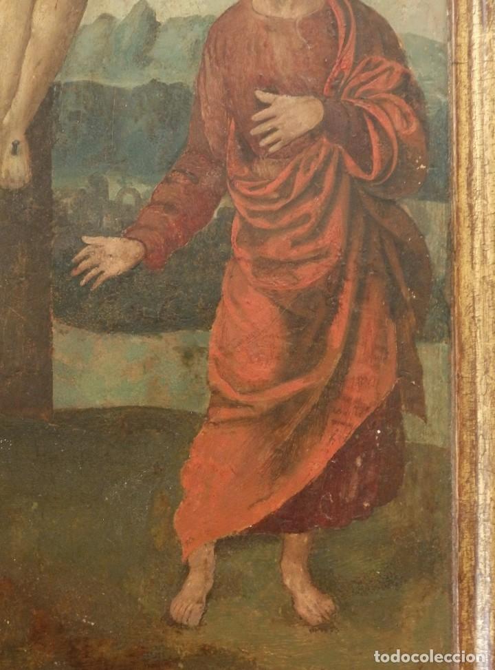Arte: Calvario. Oleo sobre tabla. Escuela flamenca. Siglo XVI. - Foto 11 - 117955635
