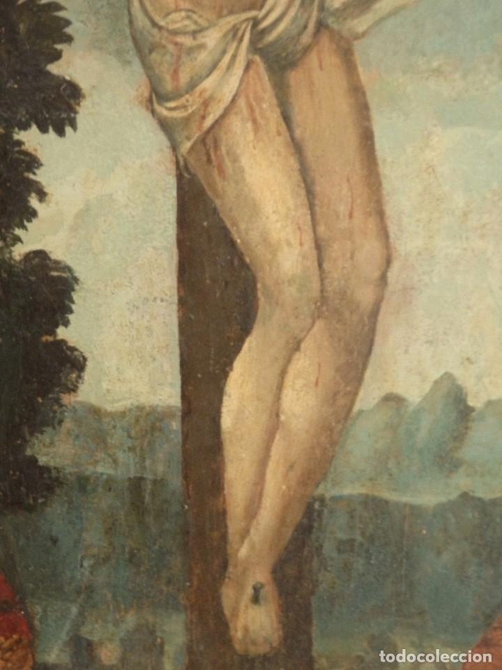 Arte: Calvario. Oleo sobre tabla. Escuela flamenca. Siglo XVI. - Foto 14 - 117955635