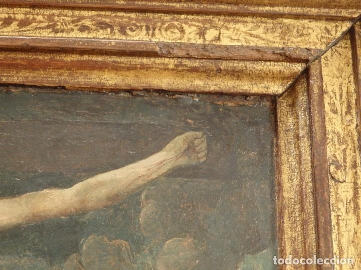 Arte: Calvario. Oleo sobre tabla. Escuela flamenca. Siglo XVI. - Foto 15 - 117955635