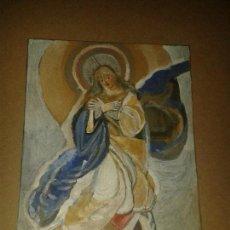 Arte: VIRGEN,ACRILICA,21,50 X 30 CMS. Lote 118015019
