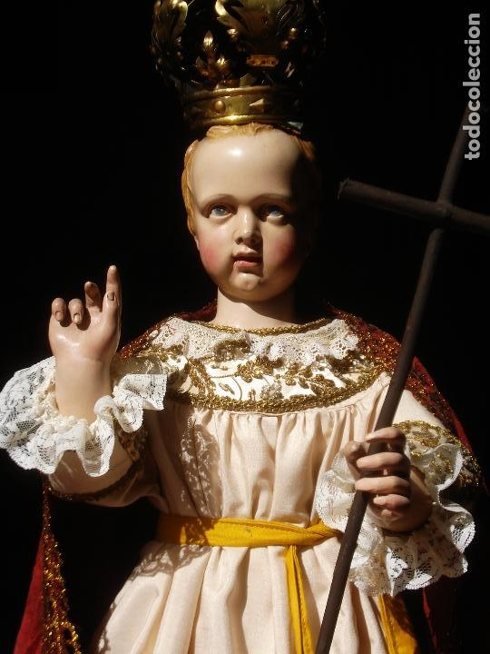 ESCUELA PARISINA SXIX DIVINO REDENTOR TALLA DE MADERA 90CM GRANDES MEDIDAS (Arte - Arte Religioso - Escultura)