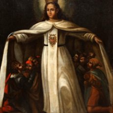 Arte: ESCUELA ESPAÑOLA DELS IGLO XVIII. OLEO SOBRE TELA. VIRGEN DE LA MERCE. Lote 118049807