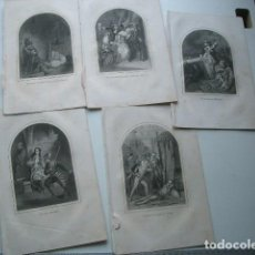 Arte: LOTE DE GRABADOS DEL XIX. Lote 118053111