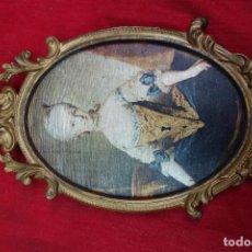 Arte: LOTE DE 5 MARCOS CON LITOGRAFIA EN TELA. Lote 118186431