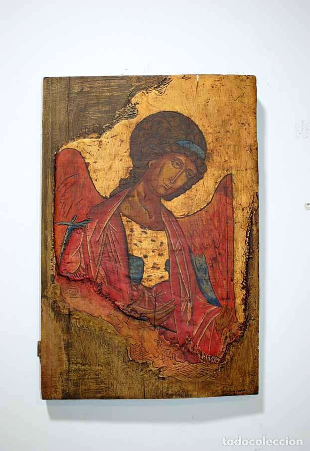 ICONO ANTIGUO RELIGIOSO ARCÁNGEL SAN GABRIEL (Arte - Arte Religioso - Iconos)