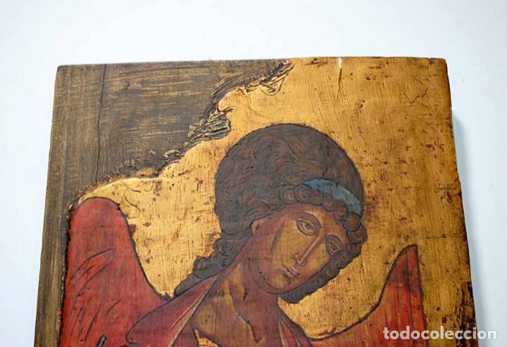 Arte: ICONO ANTIGUO RELIGIOSO ARCÁNGEL SAN GABRIEL - Foto 2 - 118337239