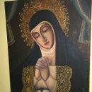 Arte: REMATO ANTIGUO OLEO DE VIRGEN SIN FECHA DEFINIDA. Lote 118411100