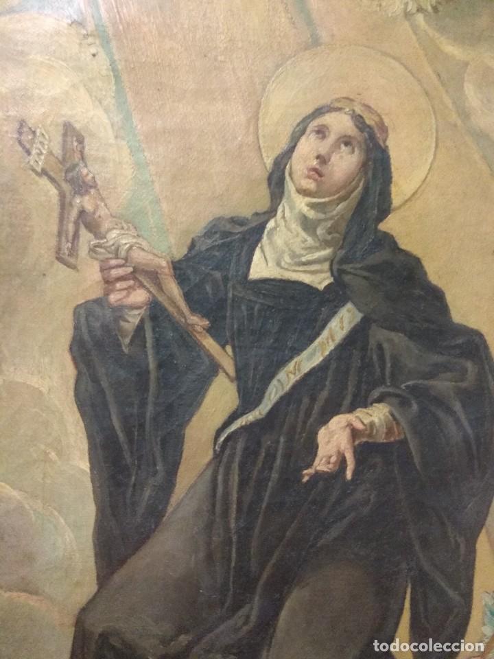 Arte: Óleo sobre Lienzo Santa Florentina - Patrona de Cartagena - José Gallel y Beltrán - Foto 4 - 118474683