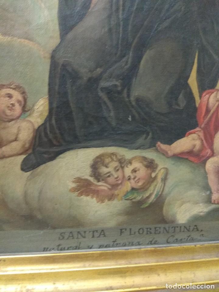 Arte: Óleo sobre Lienzo Santa Florentina - Patrona de Cartagena - José Gallel y Beltrán - Foto 6 - 118474683