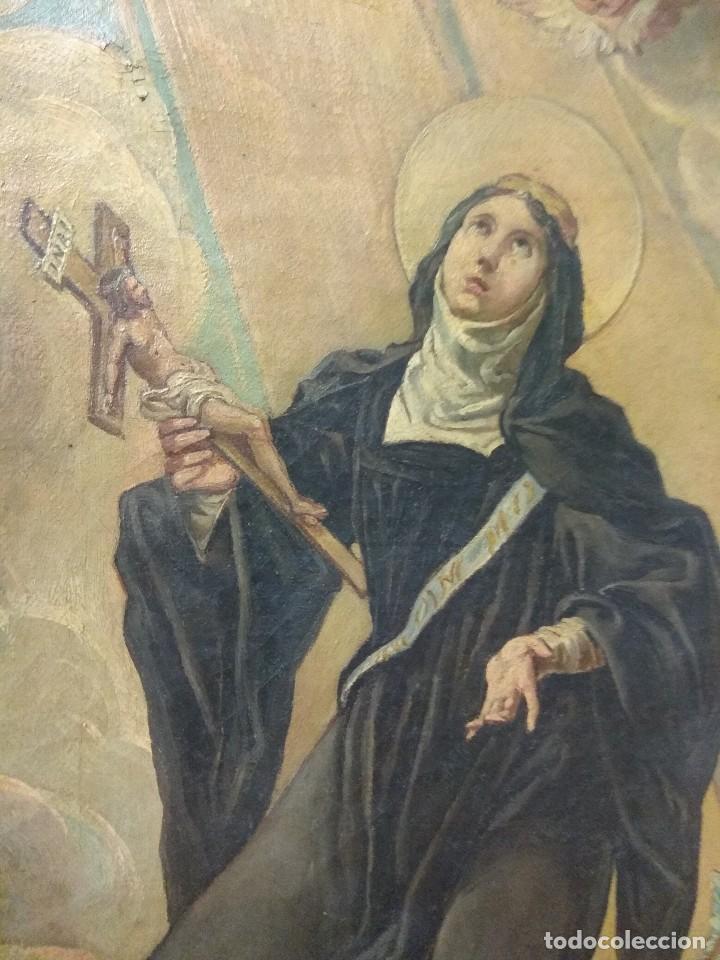 Arte: Óleo sobre Lienzo Santa Florentina - Patrona de Cartagena - José Gallel y Beltrán - Foto 8 - 118474683