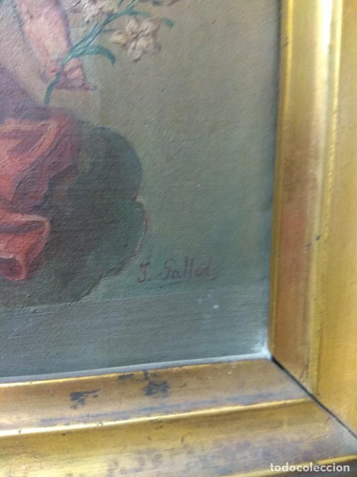 Arte: Óleo sobre Lienzo Santa Florentina - Patrona de Cartagena - José Gallel y Beltrán - Foto 9 - 118474683