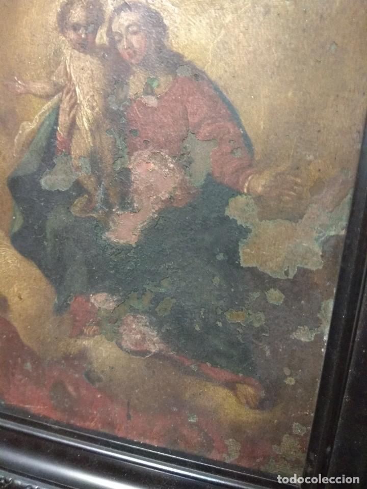 Arte: Óleo Sobre Cobre - La Virgen con el Niño XVIII - Foto 4 - 118479067