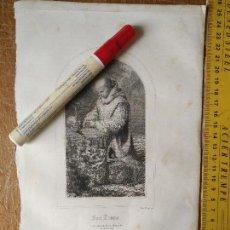 Arte: KK - REF: 1851 - GRABADO ORIGINAL RELIGIOSO AÑO 1851 - SAN BRUNO . Lote 118569251