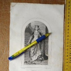 Arte: KK - REF: 1851 - GRABADO ORIGINAL RELIGIOSO AÑO 1851 - SANTA ELISABET ELISABETH. Lote 118570591