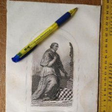 Arte: KK - REF: 1851 - GRABADO ORIGINAL RELIGIOSO AÑO 1851 - SAN CARLOS BORROMEO. Lote 118570947