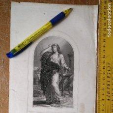 Arte: KK - REF: 1851 - GRABADO ORIGINAL RELIGIOSO AÑO 1851 - SANTA MARIA - MAGDALENA. Lote 118571087