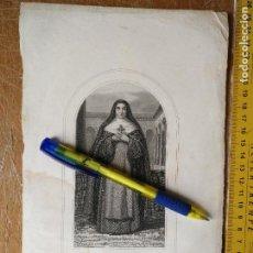 Arte: KK - REF: 1851 - GRABADO ORIGINAL RELIGIOSO AÑO 1851 - SANTA TERESA . Lote 118571403