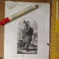 Arte: KK - REF: 1851 - GRABADO ORIGINAL RELIGIOSO AÑO 1851 - SAN ROQUE ACOMPAÑADO DE SU PERRO. Lote 118571467