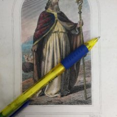 Arte: KK - REF: 1851 - GRABADO ORIGINAL RELIGIOSO AÑO 1851 - COLOREADO COLOR ILUMINADO - SAN NICOLAS. Lote 118573575
