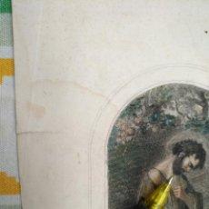 Arte: KK - REF: 1851 - GRABADO ORIGINAL RELIGIOSO AÑO 1851 - COLOREADO COLOR ILUMINADO SAN MARIANO. Lote 118573923