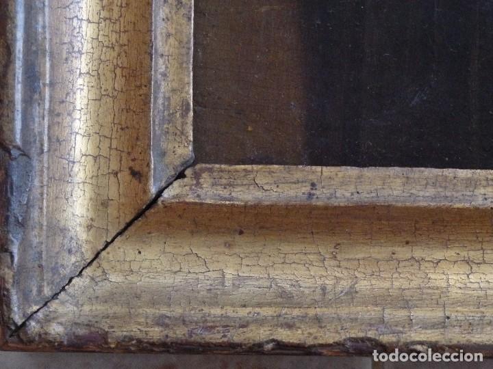Arte: Santa Verónica Giuliani. Oleo sobre tabla del siglo XVII con marco de época. 47 x 36 cm. - Foto 7 - 118595195