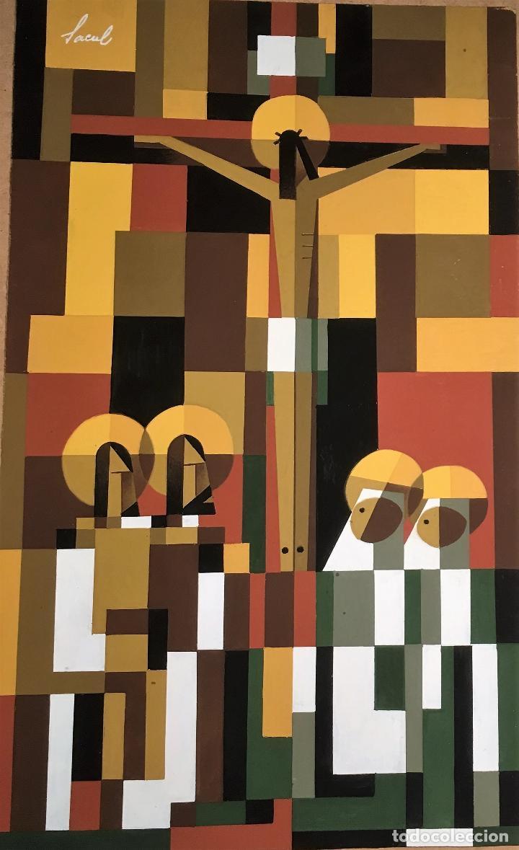 CRUCIFIXIÓN POR SACUL (MIGUEL LUCAS SAN MATEO) 1973 (Arte - Arte Religioso - Pintura Religiosa - Otros)