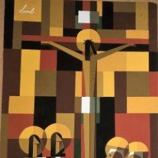 Arte: CRUCIFIXIÓN POR SACUL (MIGUEL LUCAS SAN MATEO) 1973. Lote 118597963