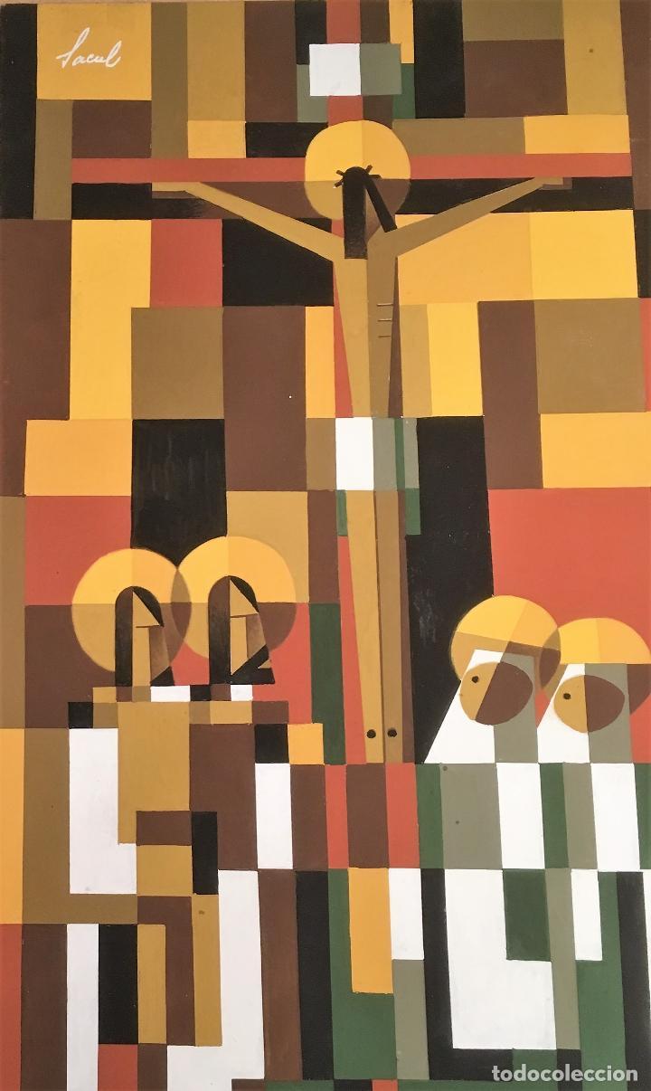 Arte: Crucifixión por Sacul (Miguel Lucas San Mateo) 1973 - Foto 2 - 118597963