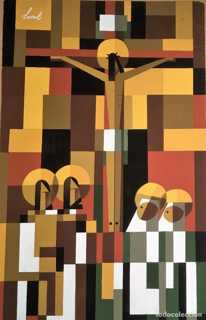 Arte: Crucifixión por Sacul (Miguel Lucas San Mateo) 1973 - Foto 3 - 118597963