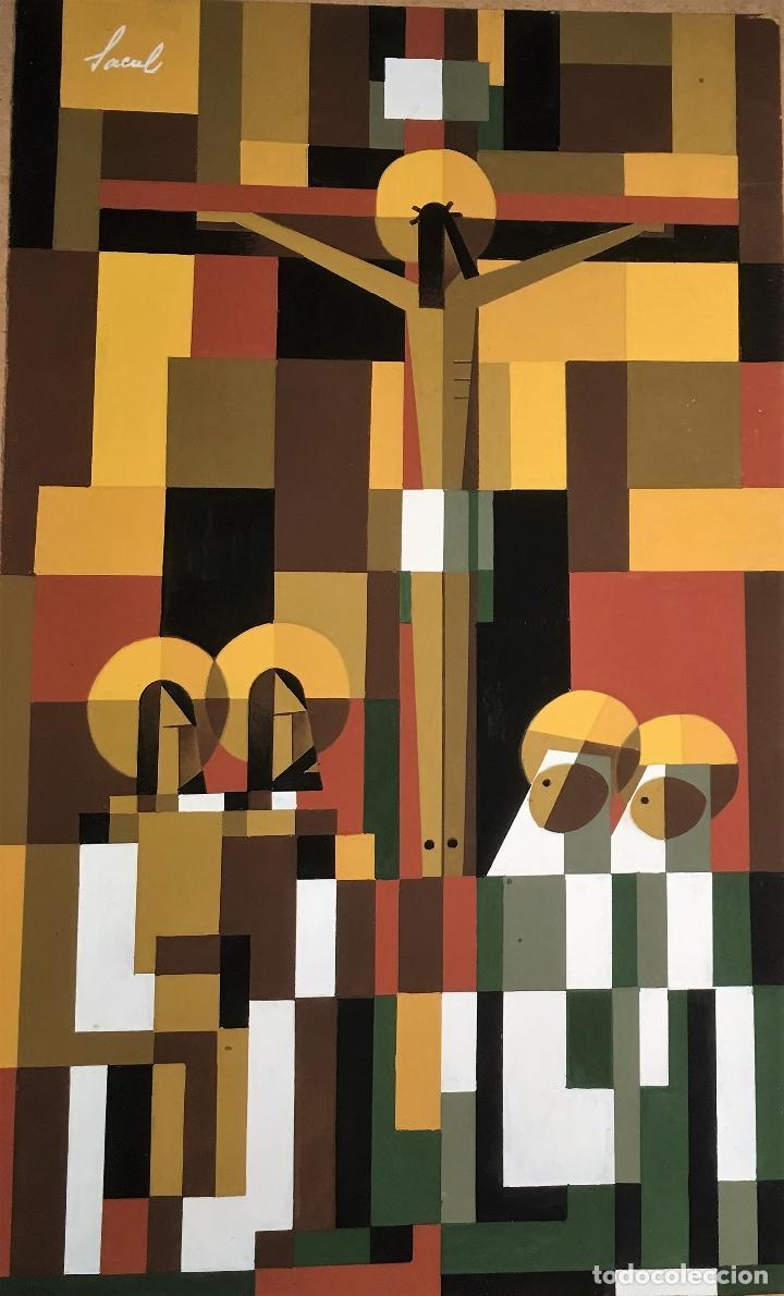Arte: Crucifixión por Sacul (Miguel Lucas San Mateo) 1973 - Foto 4 - 118597963