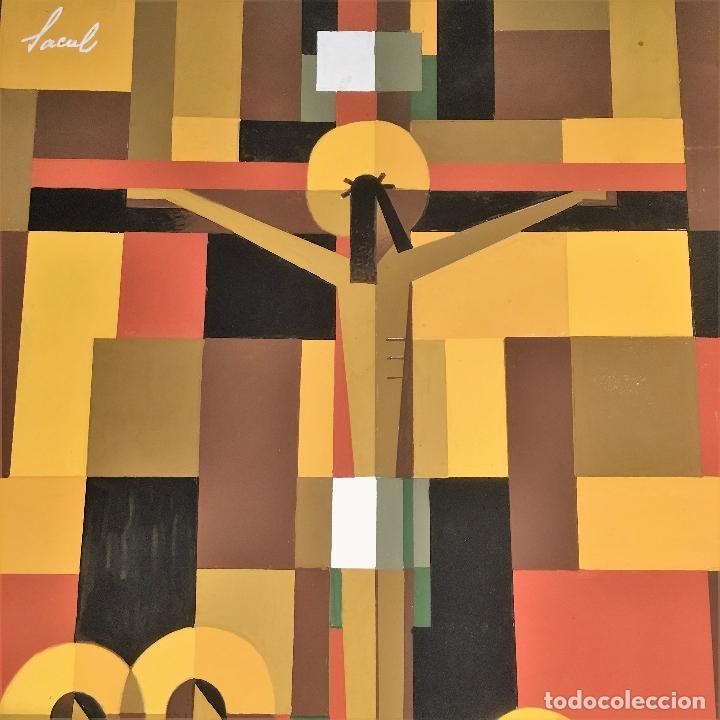 Arte: Crucifixión por Sacul (Miguel Lucas San Mateo) 1973 - Foto 9 - 118597963