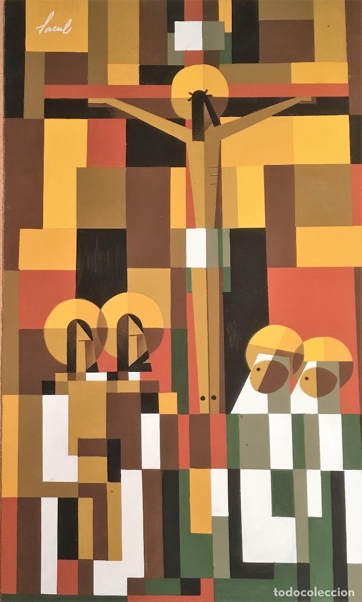 Arte: Crucifixión por Sacul (Miguel Lucas San Mateo) 1973 - Foto 17 - 118597963