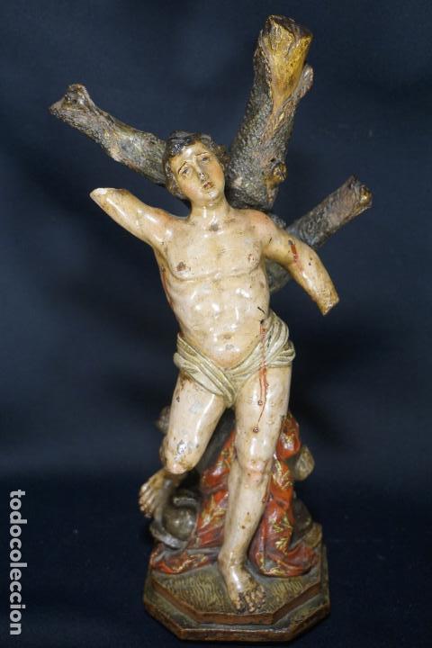 SAN SEBASTIÁN. ESCULTURA TERRACOTA. ITALIA. SIGLO XVIII. (Arte - Arte Religioso - Escultura)