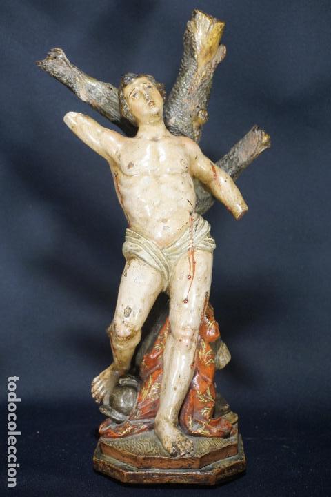 Arte: SAN SEBASTIÁN. ESCULTURA TERRACOTA. ITALIA. SIGLO XVIII. - Foto 39 - 118612499