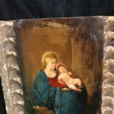 Arte: VIRGEN CON EL NIÑO, OLEO SOBRE TABLA. Lote 118659299
