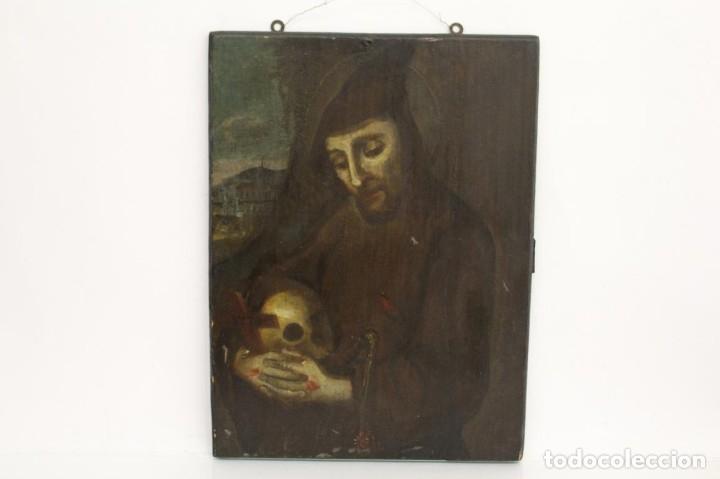 ÓLEO SOBRE TABLA. SIGLO XVIII (Arte - Arte Religioso - Pintura Religiosa - Oleo)