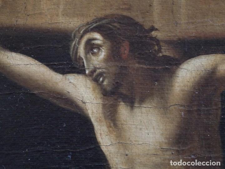 Arte: Cristo Crucificado. Óleo sobre lienzo. Escuela española. Siglo XVII. - Foto 6 - 118749647