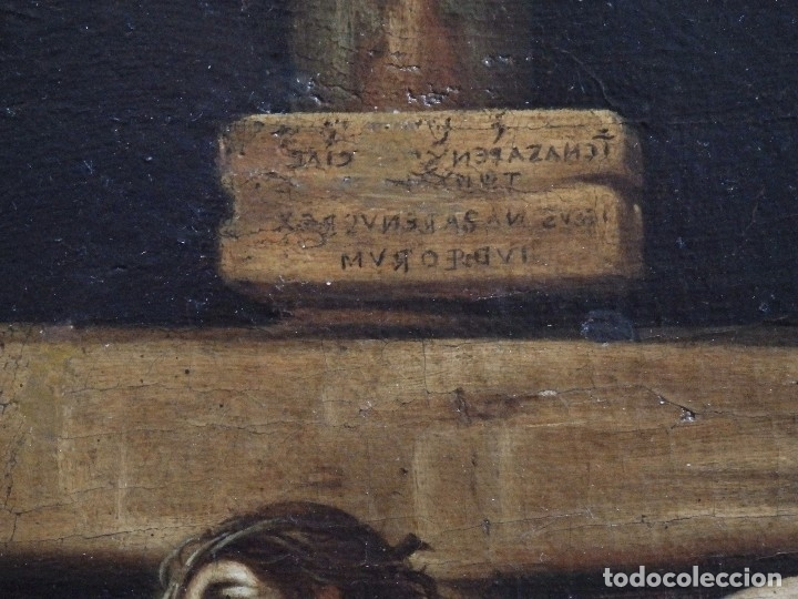 Arte: Cristo Crucificado. Óleo sobre lienzo. Escuela española. Siglo XVII. - Foto 11 - 118749647