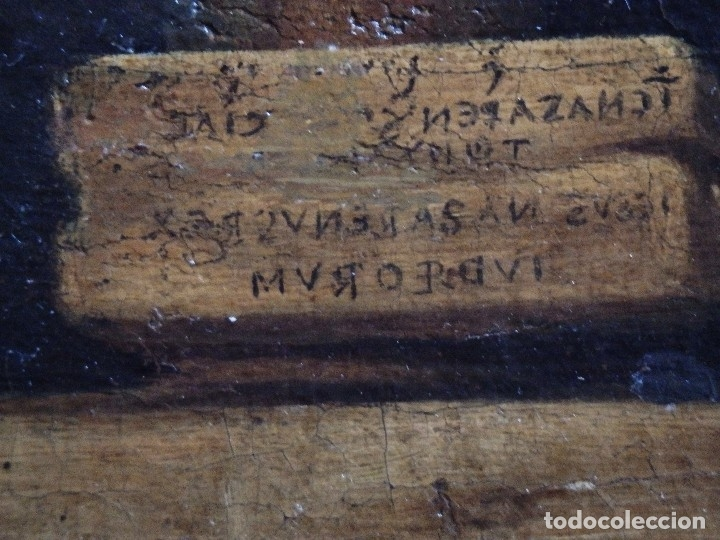 Arte: Cristo Crucificado. Óleo sobre lienzo. Escuela española. Siglo XVII. - Foto 12 - 118749647