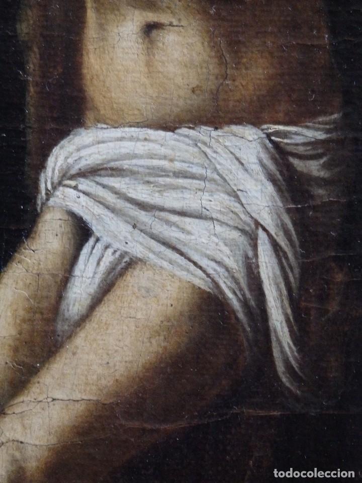 Arte: Cristo Crucificado. Óleo sobre lienzo. Escuela española. Siglo XVII. - Foto 14 - 118749647