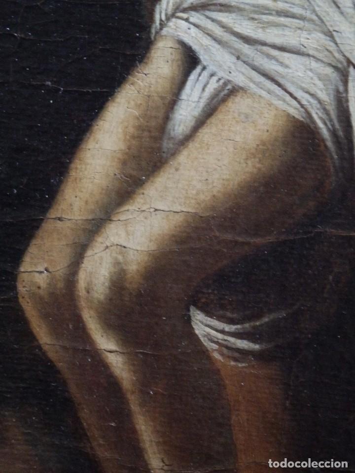 Arte: Cristo Crucificado. Óleo sobre lienzo. Escuela española. Siglo XVII. - Foto 16 - 118749647