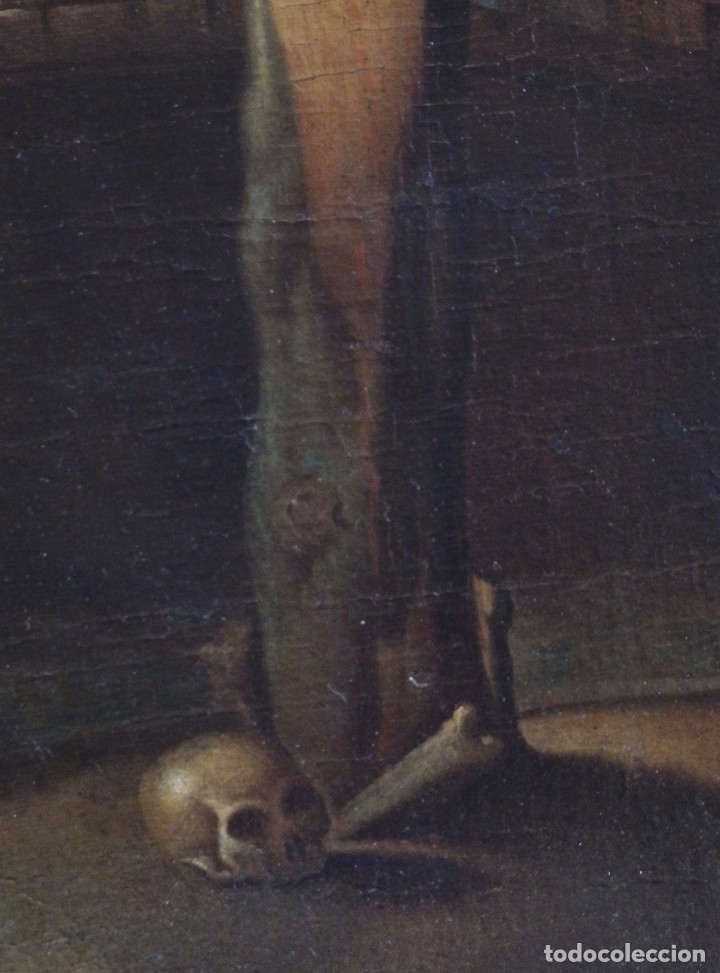 Arte: Cristo Crucificado. Óleo sobre lienzo. Escuela española. Siglo XVII. - Foto 17 - 118749647