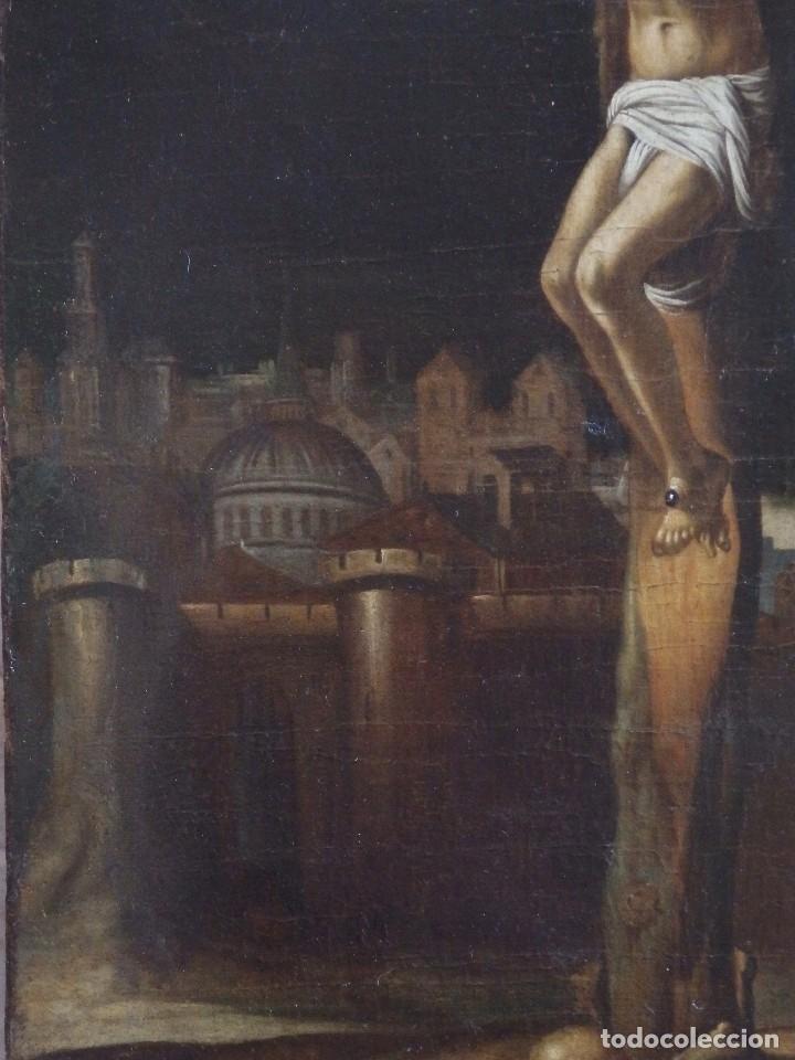 Arte: Cristo Crucificado. Óleo sobre lienzo. Escuela española. Siglo XVII. - Foto 19 - 118749647