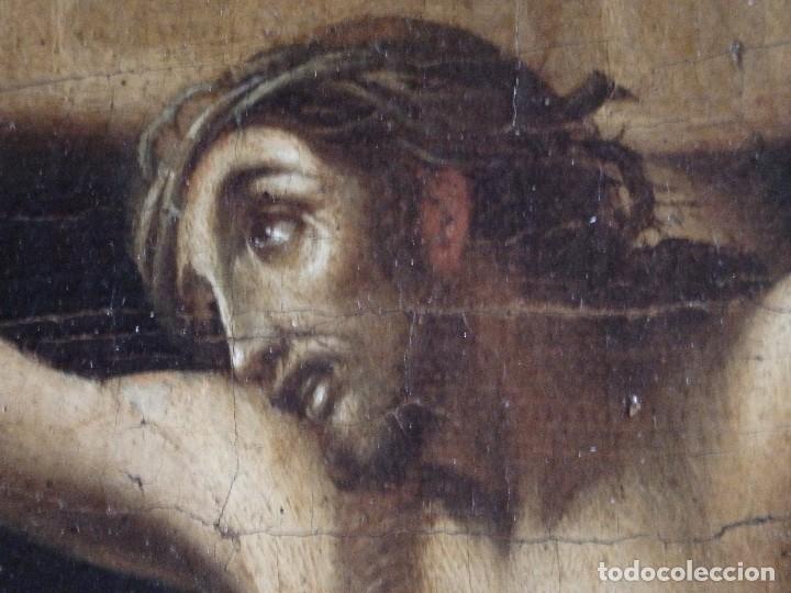 Arte: Cristo Crucificado. Óleo sobre lienzo. Escuela española. Siglo XVII. - Foto 21 - 118749647