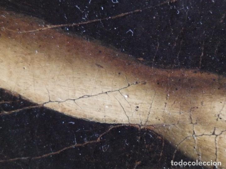 Arte: Cristo Crucificado. Óleo sobre lienzo. Escuela española. Siglo XVII. - Foto 22 - 118749647