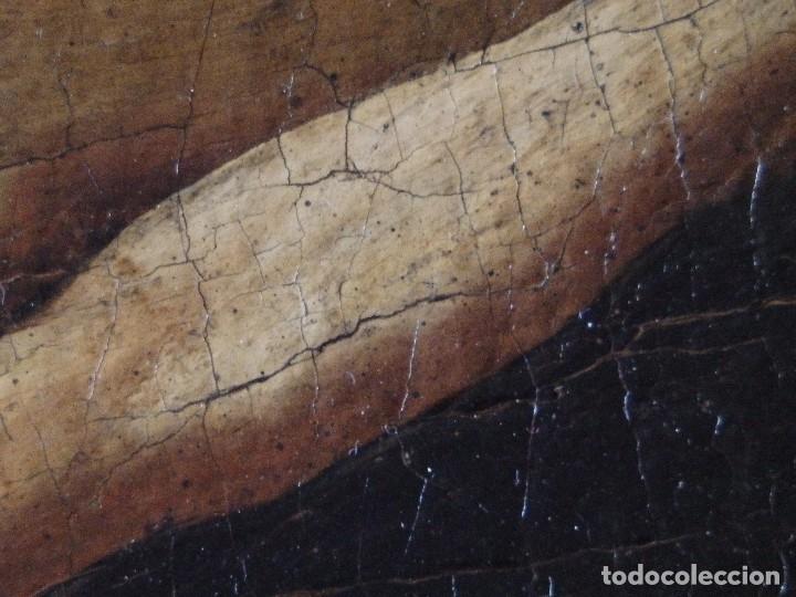 Arte: Cristo Crucificado. Óleo sobre lienzo. Escuela española. Siglo XVII. - Foto 24 - 118749647
