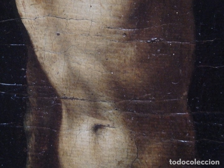 Arte: Cristo Crucificado. Óleo sobre lienzo. Escuela española. Siglo XVII. - Foto 25 - 118749647