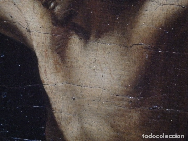 Arte: Cristo Crucificado. Óleo sobre lienzo. Escuela española. Siglo XVII. - Foto 26 - 118749647