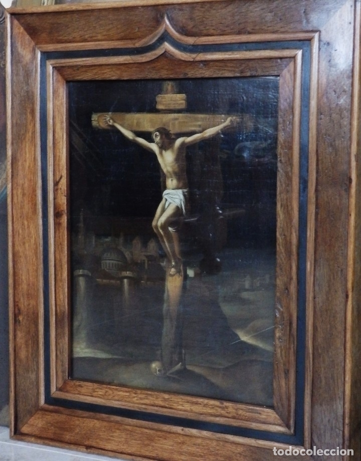 Arte: Cristo Crucificado. Óleo sobre lienzo. Escuela española. Siglo XVII. - Foto 32 - 118749647