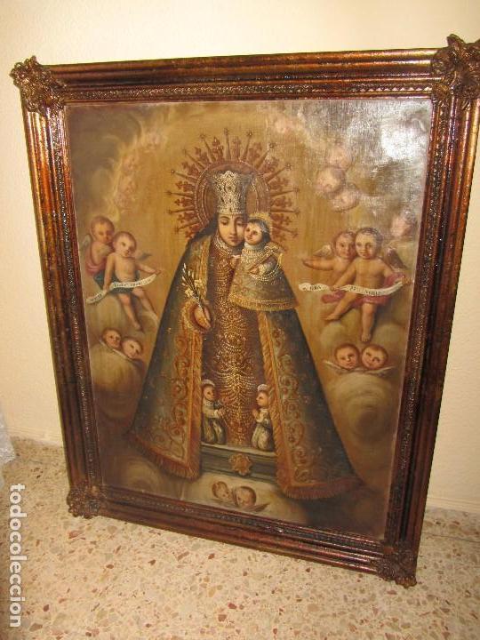 ÓLEO SOBRE LIENZO VIRGEN DE LOS DESAMPARADOS XIX (Arte - Arte Religioso - Pintura Religiosa - Oleo)
